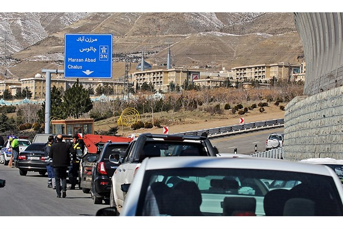 عبور 22000 خودرو  آخر هفته از آزاد راه تهران شمال