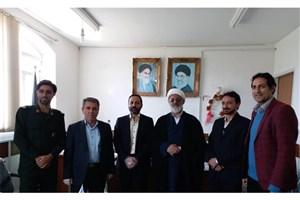 نشست مسئولان دانشگاه آزاد اسلامی و کمیته امداد زاهدشهر با محور کارآفرینی
