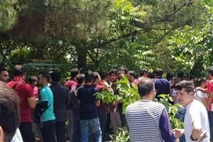 تجمع تعدادی از هواداران پرسپولیس مقابل وزارت ورزش