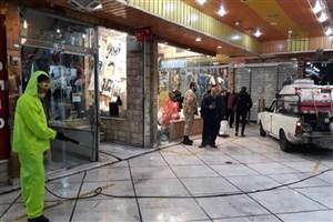 انجام گسترده  پیش گیری و کنترل ویروس کرونا در مرکز تهران