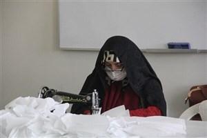 تولید میانگین ۱۰۰۰ عدد ماسک در هر حوزه بسیج دانش آموزی تهران