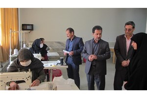 راهاندازی کارگاه تهیه و دوخت ماسک بهداشتی در دانشگاه آزاد شیروان