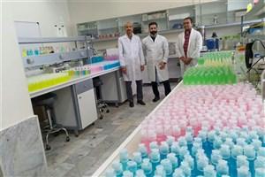 تولید 5 هزار بطری ژل ضد عفونی کننده در دانشگاه آزاد بیرجند
