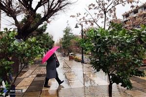 بارش باران و برف در جاده های 6 استان