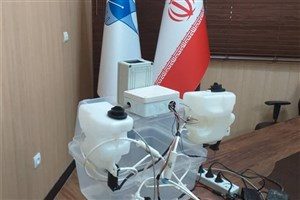 دستگاه ضدعفونی کننده دست در واحد اهواز ساخته شد