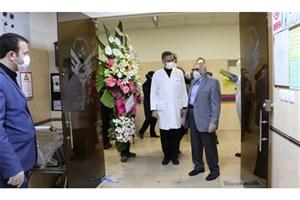 عید دیدنی رئیس دانشگاه علوم پزشکی آزاد تهران  با کادر درمان بیمارستانی