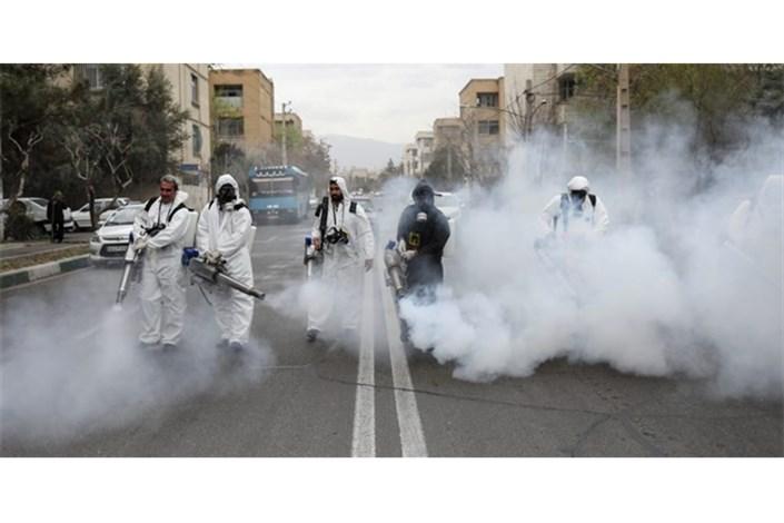 ضدعفونی کردن 5 محور پرتردد تهران