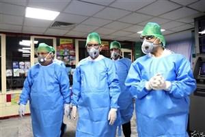 جهانگیری از بیماران بخش کرونای بیمارستان امام حسین(ع) عیادت کرد