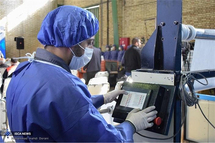 افتتاح خط تولید محلول ضدعفونی کننده