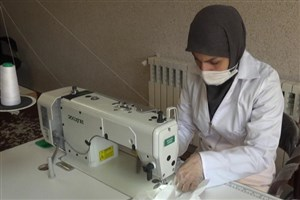 تولید ۱۰۰۰ هزار ماسک توسط بسیج دانشجویی دانشگاه الزهرا