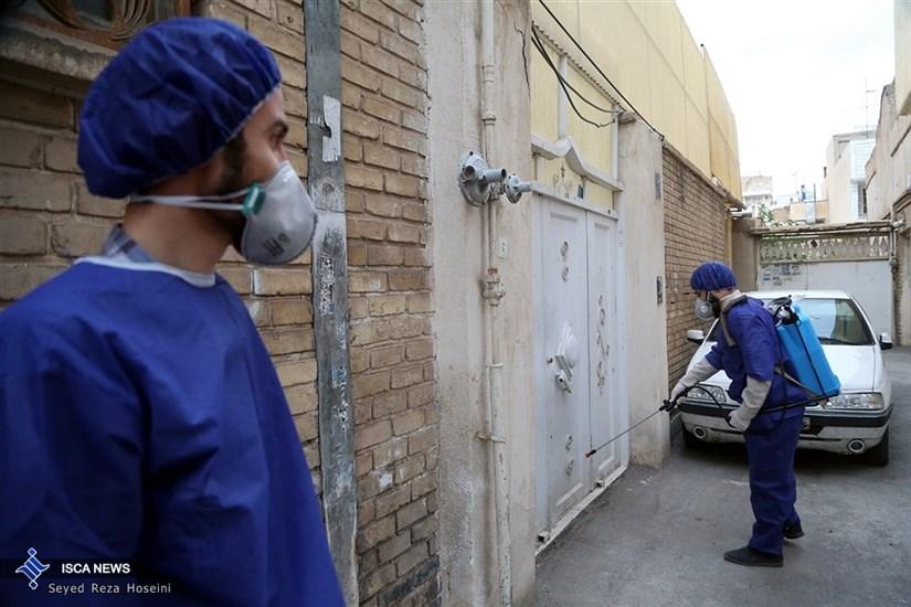 ضد عفونی معابر توسط نیرو های بسیج مردمی عراق