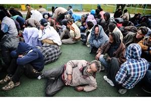 جمع آوری 1614 معتاد متجاهر در شهر تهران