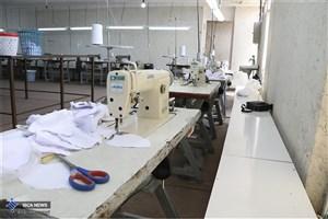 راه اندازی کارگاه تولید ماسک توسط بسیج دانشجویی واحد قم