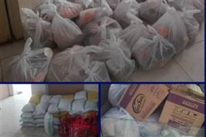 توزیع ۸۰ بسته ارزاق و مواد بهداشتی  توسط بسیج دانشجویی دانشگاه شیراز