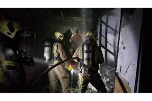 آتشسوزی گسترده در بازارچه سنتی ستارخان/۱۲ باب مغاز در آتش سوخت +عکس