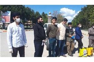 ساختمانها و معابر دانشگاه آزاد خرم آباد ضدعفونی شد