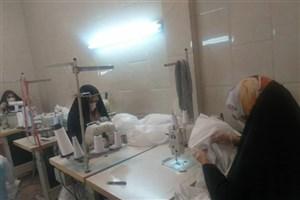 دوخت روزانه 900 ماسک توسط گروه جهادی بسیج دانشجویی دانشگاه علم و صنعت