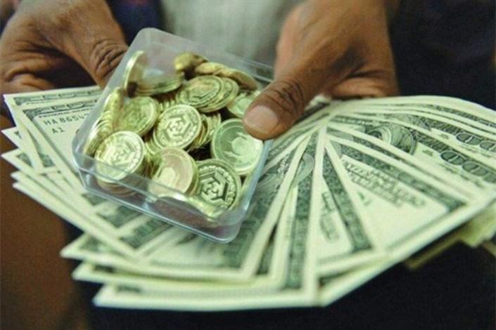 کاهش نرخ سکه و ارز