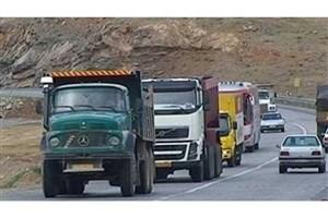 ممنوعیت  تردد انواع تریلر، کامیون و کامیونت در جاده  کرج - چالوس تا شنبه