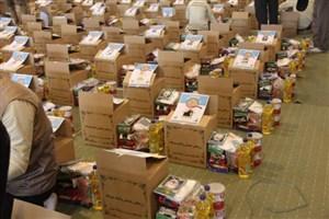 توزیع  ۱۵۰۰ سبد کالا با نام شهدا توسط گروههای جهادی شهید محلاتی