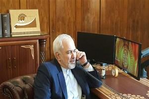 ظریف با همتای اوکراینی خود گفتگو کرد