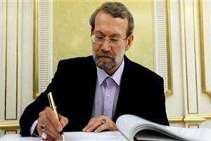لاریجانی برای رئیس مجلس پاکستان آرزوی بهبودی کرد