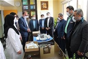 اهدای یک دستگاه الکتروشوک به بیمارستان امام رضا (ع) توسط دانشگاه آزاد اسلامی سیرجان