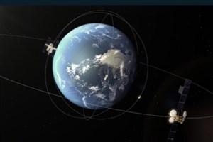 عبور سیارکی از بیخ گوش یک ماهواره