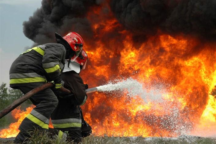 آتش سوزی در ساختمان 12 واحدی