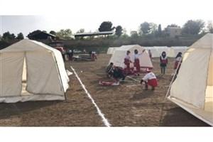 برپایی اردوگاه اسکان اضطراری در دماوند