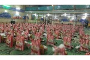 توزیع میانگین 500 بسته غذایی در هر مسجد