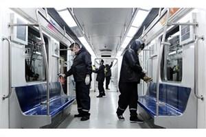 ادامه ضدعفونی  قطارهای مترو تا عادی شدن وضعیت