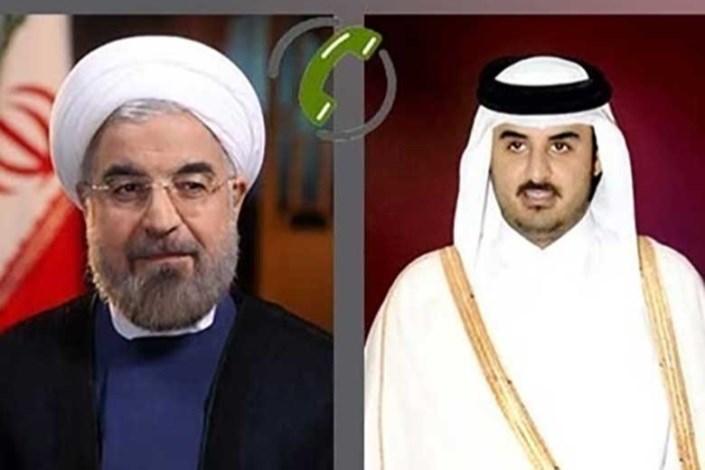 حسن روحانی - شیخ تمیم بن حمد آل ثانی
