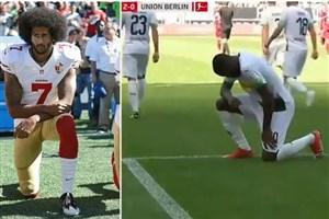 فوتبال علیه نژادپرستی آمریکایی/ ادای احترام ستاره فوتبال فرانسه به جورج فلوید