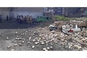 انفجار آبگرمکن و ریزش ساختمان3 طبقه/  6 مصدوم برجا گذاشت