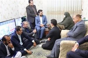 دیدار اعضای هیأت رئیسه جدید شورای عالی استانها با خانواده شهید اندرزگو